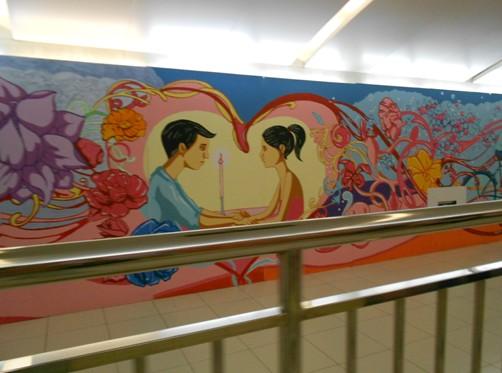 """地铁国贸站""""手绘风""""不断由立邦刷新-北京中天盈信"""